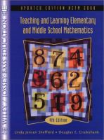 Teaching and learning elementary and middle school mathematics /